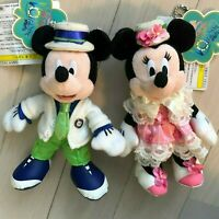 Tokyo Disney Resort Mickey Mouse & Minnie Mouse Spring Voyage badge Plush Doll