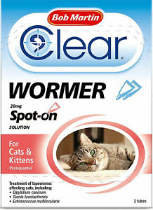 Bob Martin Clear   Spot On Wormer for Cats & Kittens