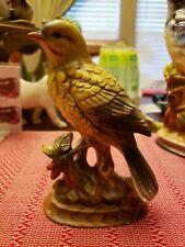 Napco Napcoware Gold Finch C-6561 Figurine Used bird statue Kitschy