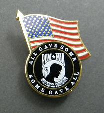 Pow Mia Usa Flag Lapel Pin Badge 1.25 Inches Some Gave All