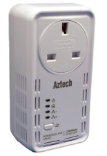 Aztech Solwise 1200AV SmartLink PowerLine HomePlug AV2 Ethernet Adapter with ...