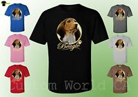 Men T-Shirts - Beagle Dog Image Puppies Very Cute Dogs Funny Desing Men Tee