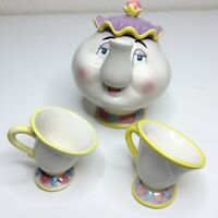 Vintage Disney Store Beauty and The Beast Mrs Potts Teapot and Cup Set