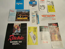 Vintage Mixed Lot 11 Trojan Ritchie Livestock Hog Waterer Fountain Brochure Ad's