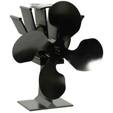 4-Blade Anodized Aluminum Thermoelectric Fan for Fireplace Powered by Heat