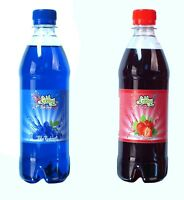 Blue Raspberry & Strawberry Slush Syrup 500ml Twin Pack with Free Snow Cone Cups