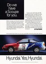 1993 HYundai Scoupe Original Advertisement Print Car Ad J528