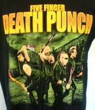 Five Finger Death Punch Black Large T-Shirt Shinedown 2016 Tour Cotton