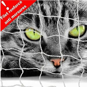 FILET DE PROTECTION BALCON POUR CHAT 6 X 3 M- RENFORCÉ ANTI MORSURES ! AJ3000