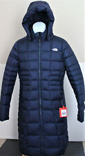 NWT The North Face Women's Metropolis Down Hooded Parka Coat Navy Size M