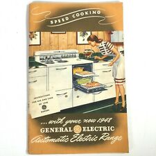1948 GENERAL ELECTRIC AUTOMATIC ELECTRIC RANGE vintage cookbook SPEED COOKING