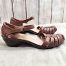 CLARKS Women's Size 9M Brown Leather Ankle Strap Sandals