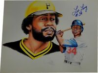 Lee Lacy Signed Autographed 11x14 Poster/Print Pirates Los Angeles Dodgers /30