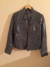 Alfani Ladies Grey Leather Jacket Size Small