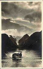 Rönnöfors Norwegen Norge ~1930 Offerdal Oldensee Boot Shiff Schiff am Gletscher