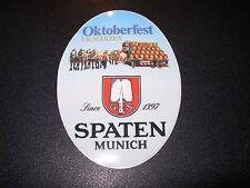Spaten Franziskaner-Bräu Oktoberfest STICKER decal craft beer brewing brewery