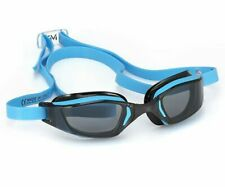 Aqua Sphere MP XCEED Swimming Goggles Smoke Lens Blue/Black Frame