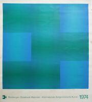 LUITPOLD DOMBERGER - Abstrakte Komposition (1974). Unsignierter Farbsiebdruck.