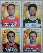 FERRERO Sammelbilder Bundesliga Stars 2011 - 4 Bilder: 3B, 6D, 8B, 8C
