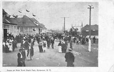 SYRACUSE, NY  New York     CROWDED STATE FAIR     c1910's Black & White Postcard