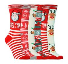 1 Pair of Ladies Festive Christmas Novelty Cotton Socks Size 4-8 UK - 5 Designs