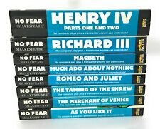No Fear Shakespeare Lot 8 Plays Side by Side in Plain English