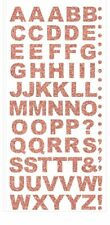 Rose Gold Glitter Letters Alphabet Sheet of 60 Outline Stickers Peel Off  Craft