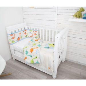 CuddleCo Comfi Dreams 2 Piece Nursery Cot / Cot Bed Bedding Set - Dinosaur Fun