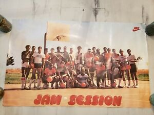 Vintage NIKE Jam Session Hoops Poster