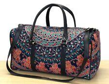 Indian Multi Mandala Duffle Sports Gym Bag Unisex Travel Bags Cotton Handbags