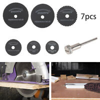 7pc HSS Mini Rotary Disc SAW Cutting BLADE SET Kit Dremel Type Multi Tool Drill