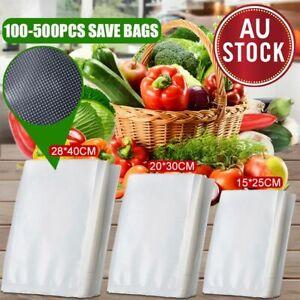 100/200/500X Vacuum Sealer Bags Food Storage Saver Heat Seal Cryovac 3 Size AU
