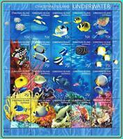 AUSTRALIA / CHRISTMAS IS. 2004 MARINE LIFE M/S  face VALUE $5.50 MNH FISH SCUBA