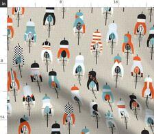 Cycling Sport Bike Racing Spoonflower Fabric by the Yard