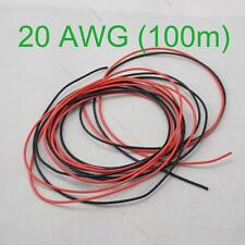 20 AWG 100m Gauge Silicone Wire Wiring Flexible Stranded #L Copper Cables for RC