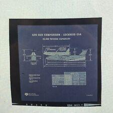Original Space Shuttle Concept Art Reversal Film for Slide - Csa Comparison