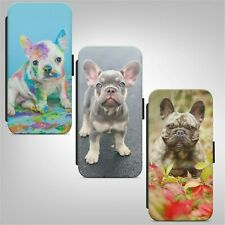 French Bulldog Puppy Dog WALLET FLIP PHONE CASE COVER FOR IPHONE SAMSUNG HUAWEI