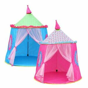 Lovely Castle Foldable Kids Tent Ger Yurt Indoor Outdoor Playhouse Game House
