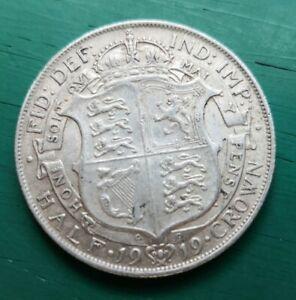 1919 george V sterling silver halfcrown coin #089