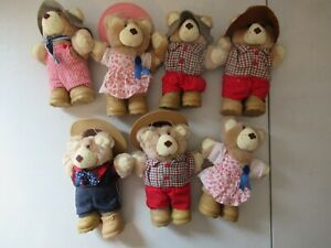 Lot of 7 Furskins 8 inch plush toys