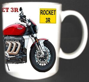 TRIUMPH ROCKET 3R 2020 CLASSIC MOTOR BIKE MUG.NEW ADD YOUR OWN REG NUMBER FOC