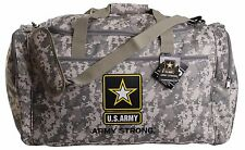 """U.S. Military Official Licensed """"U.S. Army"""" Camouflage Duffel Gym Bag"""