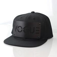 Karl Alley VOGUE Snapback Black Hat Cap Metal Plate Boy London Madonna (B-grade)