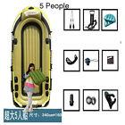 5 person Inflatable Rafting/Fishing Boat Set & Mount Kit kayak Pool Raft