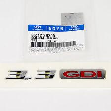 Genuine OEM Hyundai Kia 3.3 GDi Tailgate Emblem 86312-3R200 / Ships Fast!