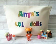 LOL Surprise Dolls Bag. Personalised - keep the dolls & accessories altogether!