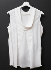 YIGAL AZROUEL 100% Silk Sleeveless Blouse Size 4 WORN ONCE