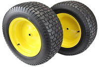 (Set of 2) 22x9.50-12 Tires & Wheels 4 Ply for Lawn & Garden Mower Turf Tires