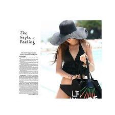 Women Fashion Wide Large Brim Folding Summer Sun Hat Straw Beach Cap Solid Color