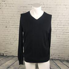 Mens BURBERRY LONDON jumper/sweater. Size medium   Black   V Neck   A55
